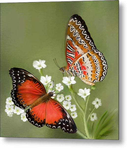 Common Lacewing Butterfly Metal Print