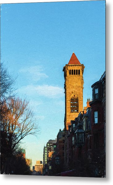 Commonwealth Avenue In Boston Metal Print