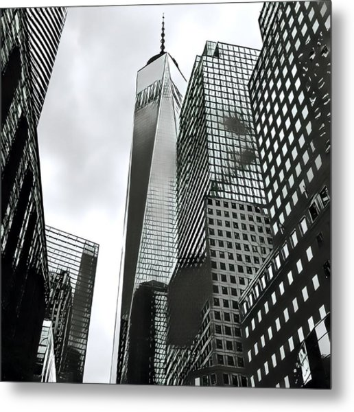 Commuters' View Of 1 World Trade Center Metal Print
