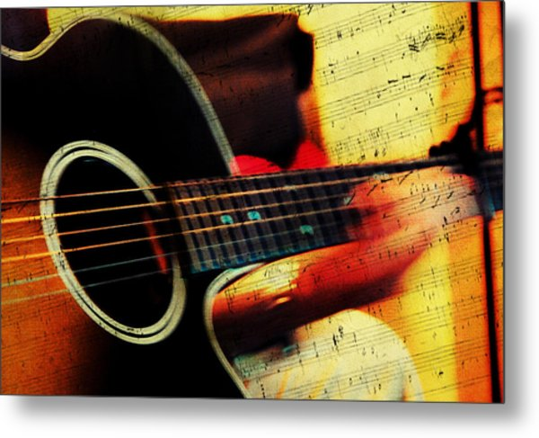 Composing Hallelujah. Music From The Heart  Metal Print