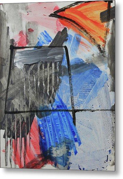 Composition 20188 Diptych Left Panel Metal Print