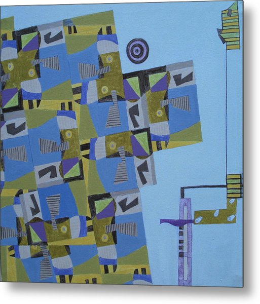 Composition Xi-07 Metal Print by Maria Parmo