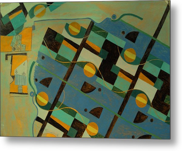 Composition Xxi 07 Metal Print by Maria Parmo