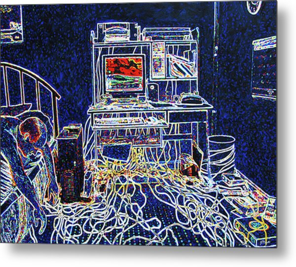 Computers And Wires Metal Print