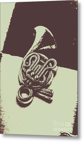 Concert Of A French Horn Metal Print