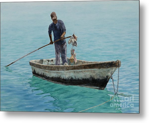 Conch Pearl Metal Print