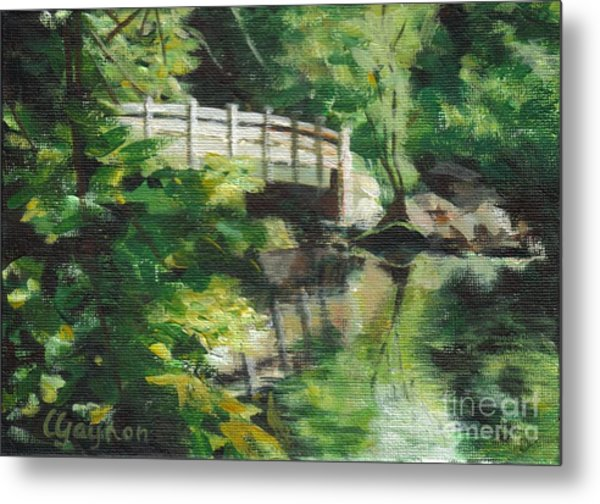 Concord River Bridge Metal Print
