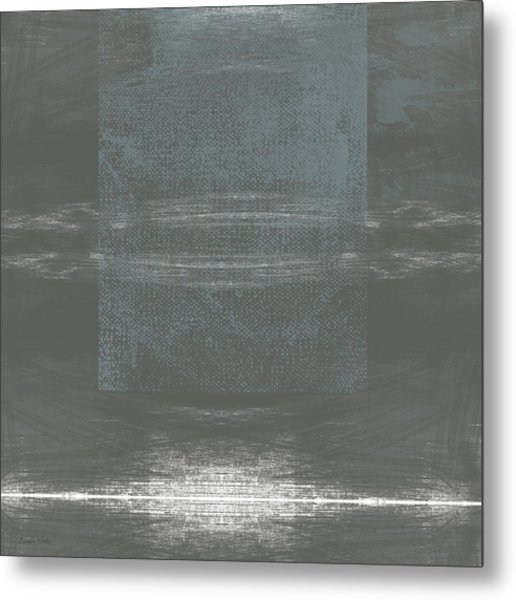 Concrete 2- Contemporary Abstract Art By Linda Woods Metal Print