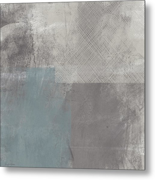 Concrete 3- Contemporary Abstract Art By Linda Woods Metal Print