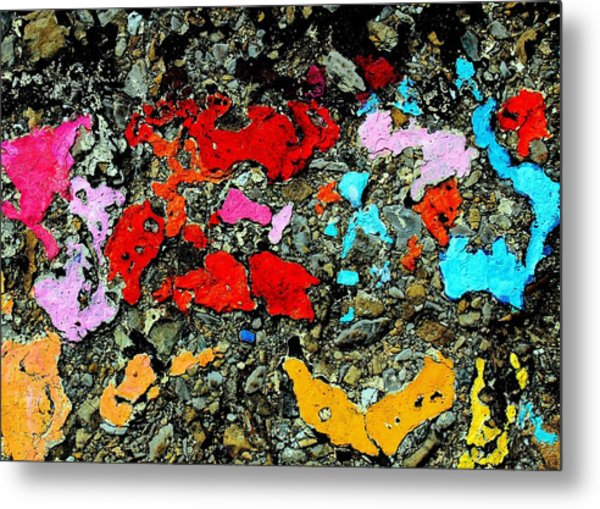 Concrete Abstraction Metal Print