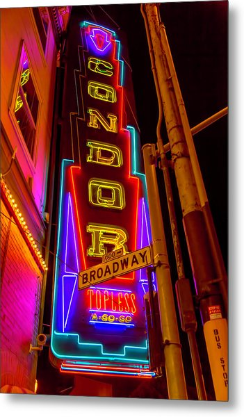 Condor Neon On Broadway Metal Print