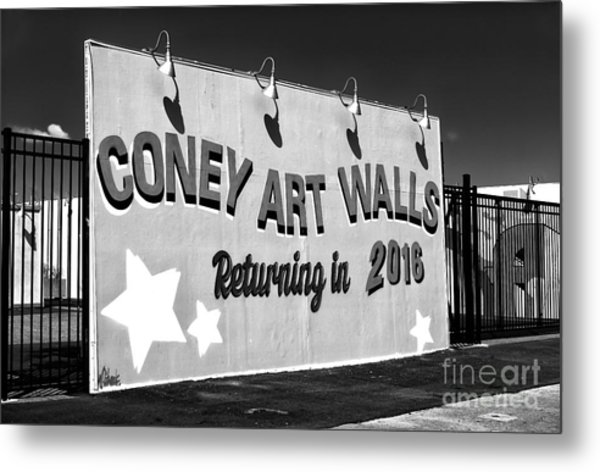 Coney Island Wall Art Returning In 2016 Metal Print by John Rizzuto