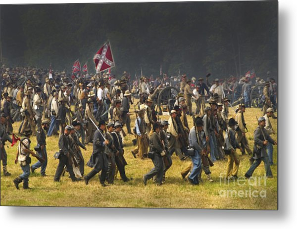 Confederate Charge At Gettysburg Metal Print