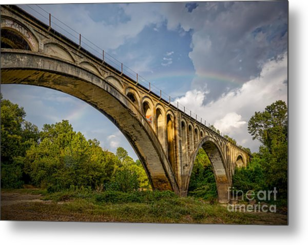 Confederate Rainbow At Bovina Metal Print