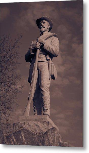 Confederate Statue  Standing Guard Metal Print