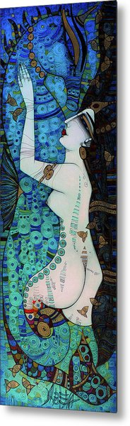 Confessions In Blue Metal Print