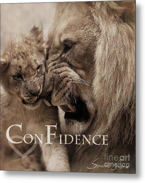 Confidence Metal Print