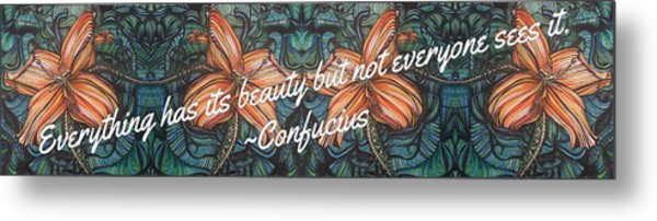 Confucius Beauty  Metal Print