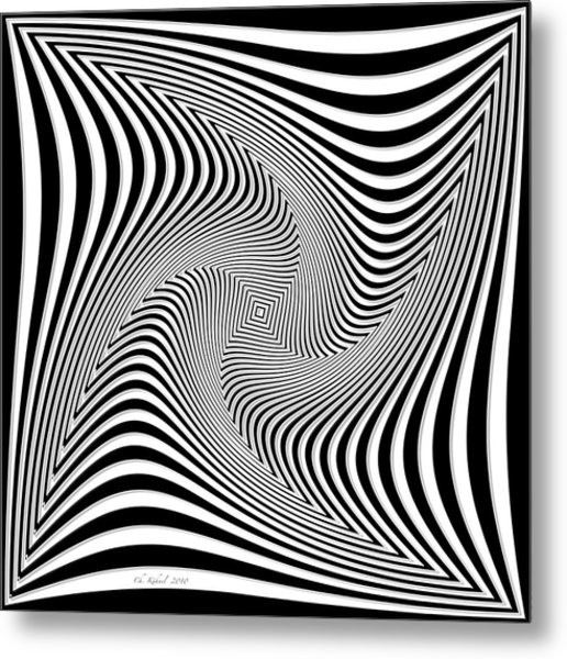 Confusion In Black And White Metal Print by Christine Kuehnel