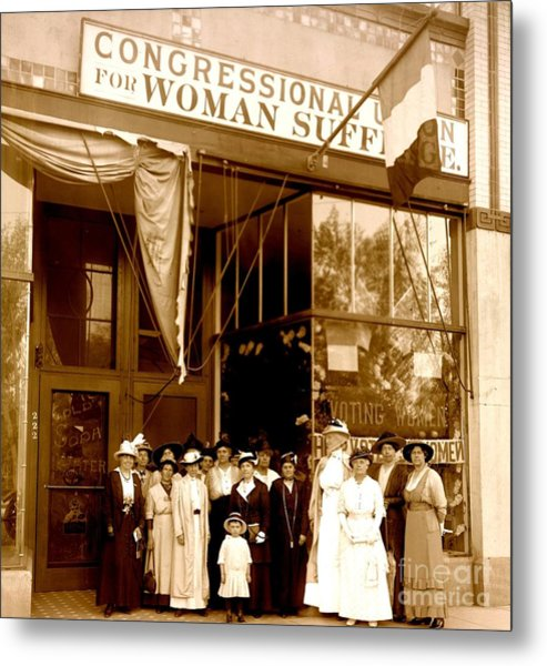 Congressional Union For Woman Suffrage Colorado Headquarters 1914 Metal Print
