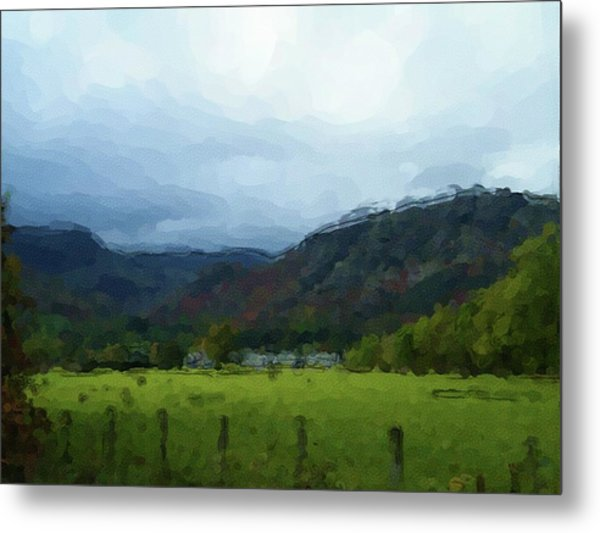 Coniston Watercolour Sketch Metal Print