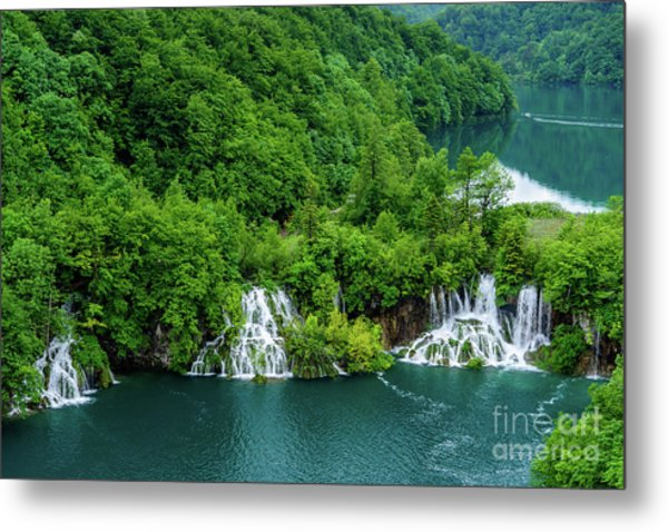 Connected By Waterfalls - Plitvice Lakes National Park, Croatia Metal Print