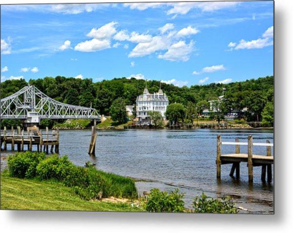 Connecticut River - Swing Bridge - Goodspeed Opera House Metal Print
