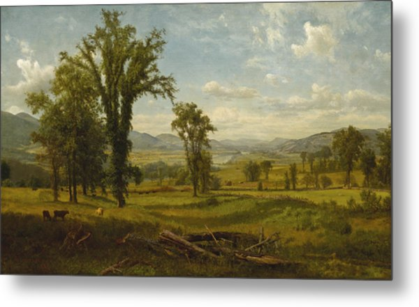 Connecticut River Valley, Claremont, New Hampshire Metal Print