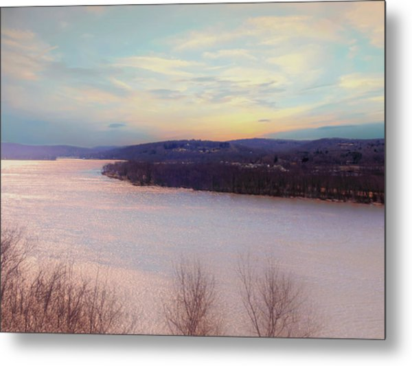 Connecticut River View From Gillette Castle. Metal Print