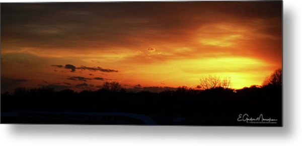 Connecticut Sunset Metal Print