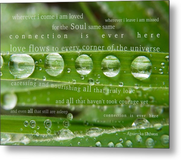 Connection Is Ever Here Metal Print