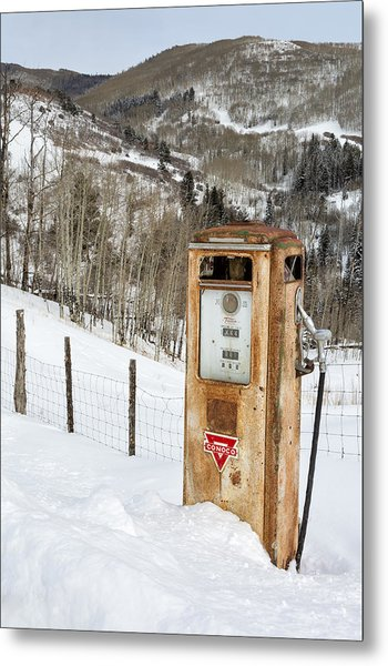 Conoco In The Snow Metal Print
