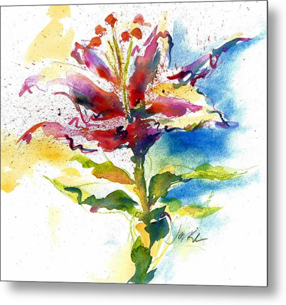 Consider The Lily Metal Print