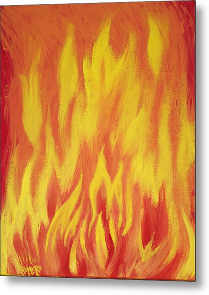 Consuming Fire Metal Print