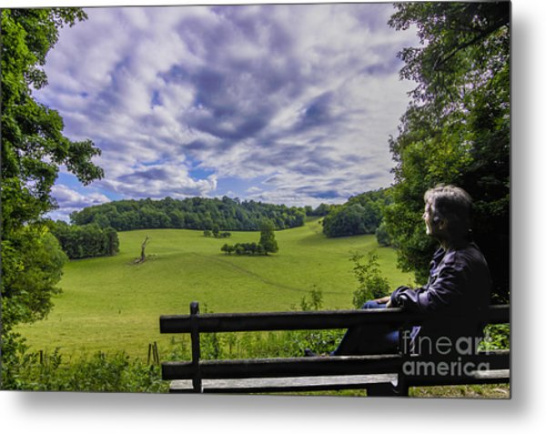 Contemplating The Beautiful Scenery Metal Print
