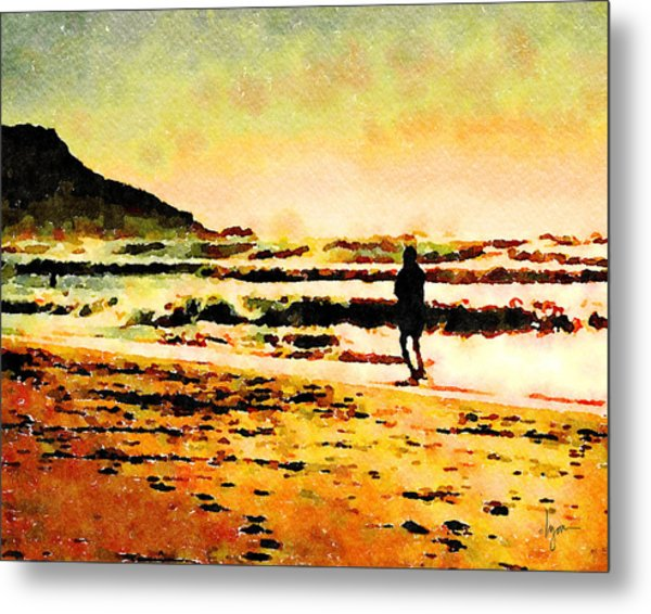 Metal Print featuring the painting Contemplation by Angela Treat Lyon