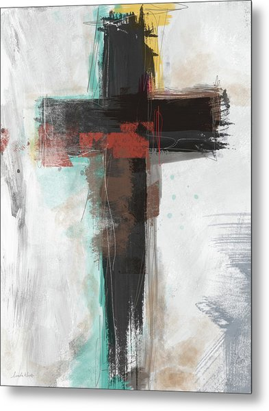 Contemporary Cross 1- Art By Linda Woods Metal Print