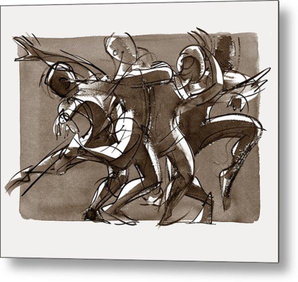 Contemporary Dance Quartet - Lucky Plush, Chicago Metal Print