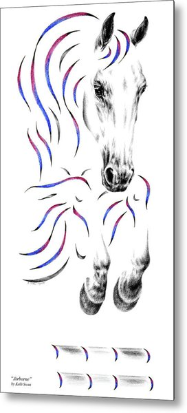 Contemporary Jumper Horse Metal Print
