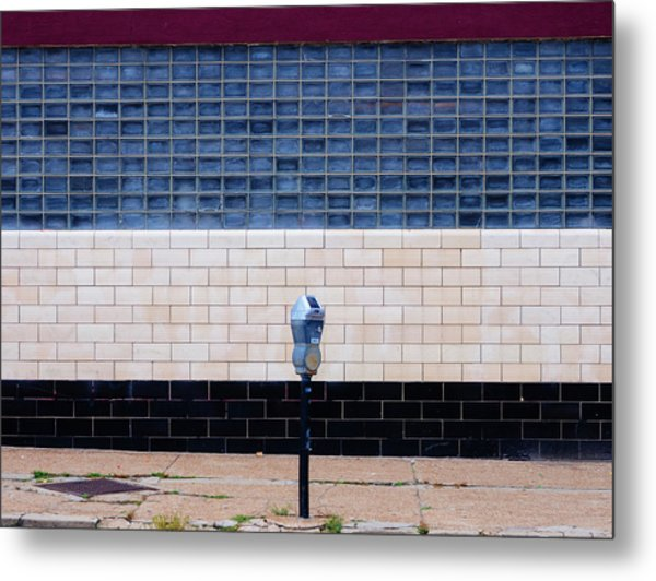 Contemporary Minimal Photography Print. Parking Meter. Metal Print by Dylan Murphy