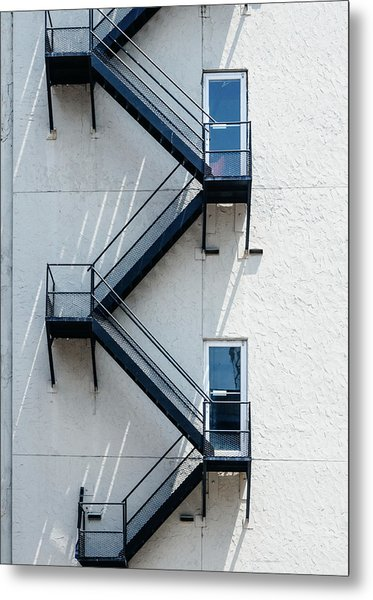 Contemporary Minimalist Photography Of Stairwell Metal Print by Dylan Murphy