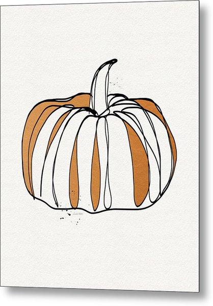 Contemporary Pumpkin- Art By Linda Woods Metal Print