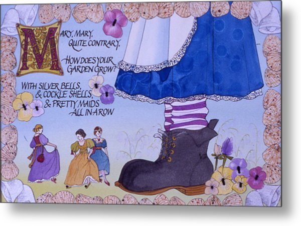 Contrary Mary Metal Print by Victoria Heryet
