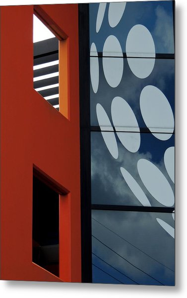 Contrasts In Abstract Metal Print