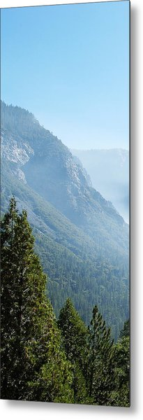 1 Of 4 Controlled Burn Of Yosemite Section Metal Print