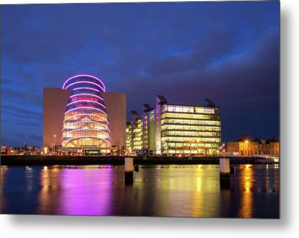 Convention Centre Dublin And Pwc Building In Dublin, Ireland Metal Print
