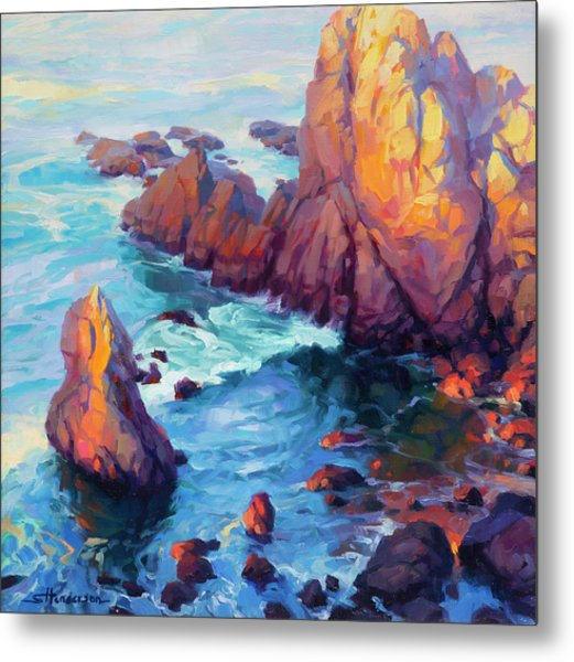 Metal Print featuring the painting Convergence by Steve Henderson