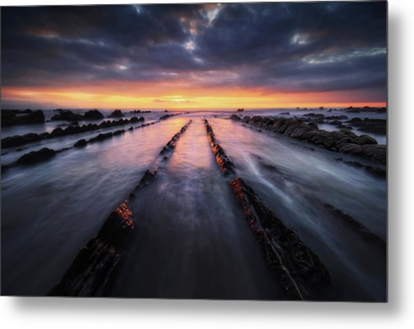 Converging To The Light Metal Print