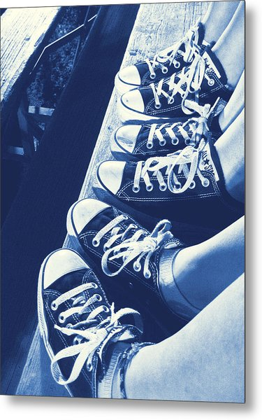 Converse Blues Metal Print by JAMART Photography