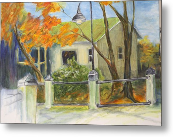 Conway Fish House Metal Print by Sandra Taylor-Hedges
